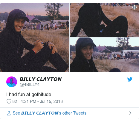 Twitter post by @4BILLY4: I had fun at gothitude