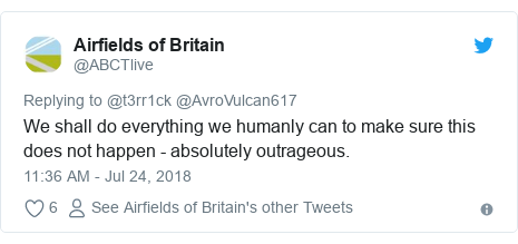 Twitter post by @ABCTlive: We shall do everything we humanly can to make sure this does not happen - absolutely outrageous.