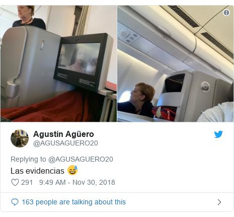 Twitter post by @AGUSAGUERO20: Las evidencias 😅