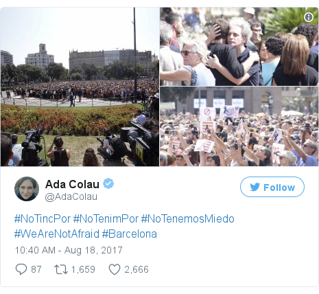 Twitter post by @AdaColau