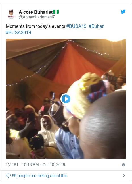 Twitter wallafa daga @Ahmadbadamasi7: Moments from today's events #BUSA19  #Buhari #BUSA2019
