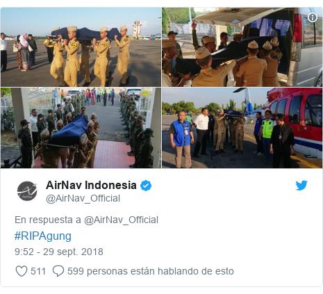 Publicación de Twitter por @AirNav_Official: #RIPAgung