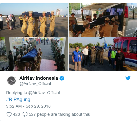Twitter post by @AirNav_Official: #RIPAgung