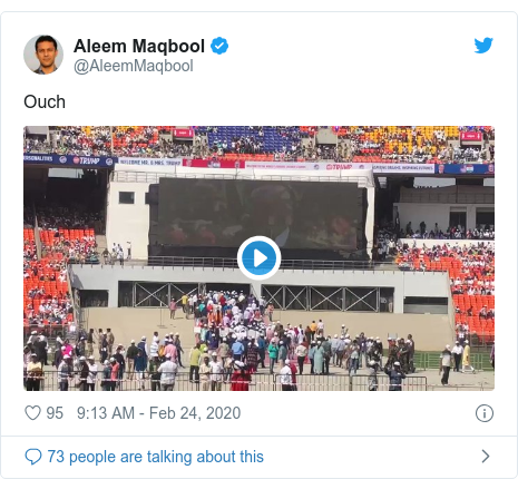 Twitter post by @AleemMaqbool: Ouch