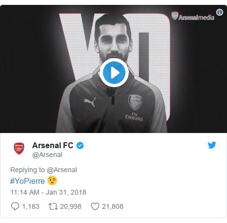 Twitter post by @Arsenal: #YoPierre 😉