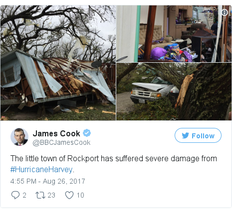 Twitter post by @BBCJamesCook