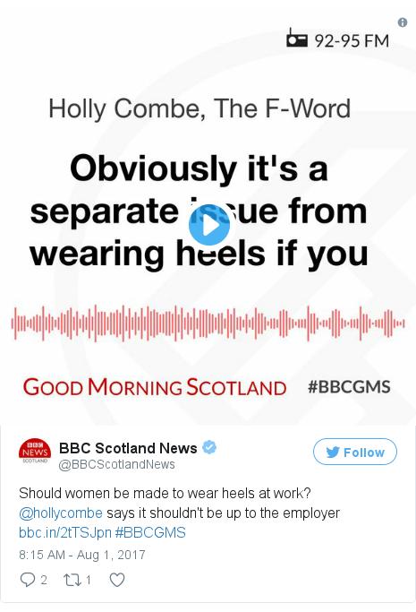 Twitter post by @BBCScotlandNews