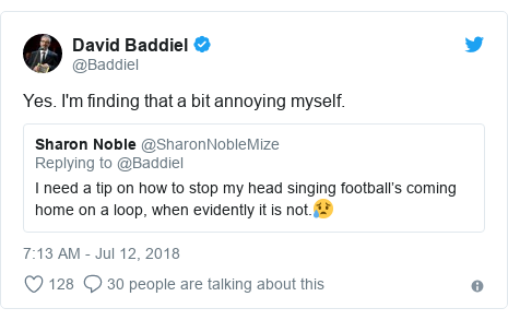 Twitter post by @Baddiel: Yes. I'm finding that a bit annoying myself.