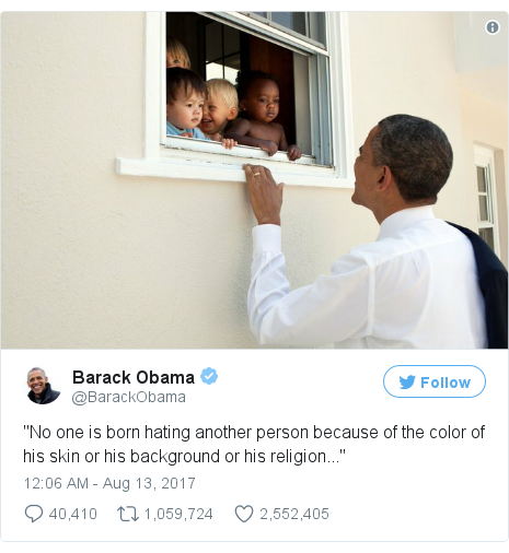 Twitter post by @BarackObama
