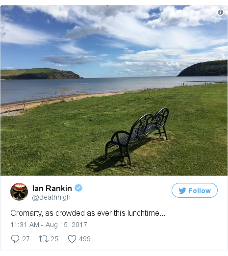 Twitter post by @Beathhigh: Cromarty, as crowded as ever this lunchtime... pic.twitter.com/RwiUef1Zgu