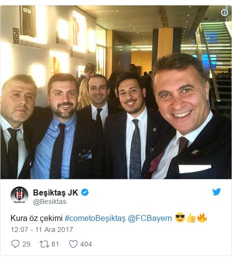 @Besiktas tarafından yapılan Twitter paylaşımı: Kura öz çekimi #cometoBeşiktaş @FCBayern 😎👍🔥