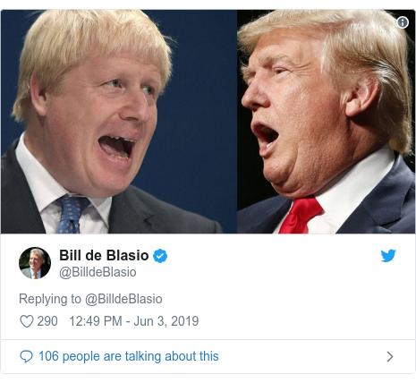 Twitter post by @BilldeBlasio: