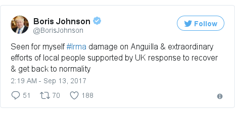 Twitter post by @BorisJohnson