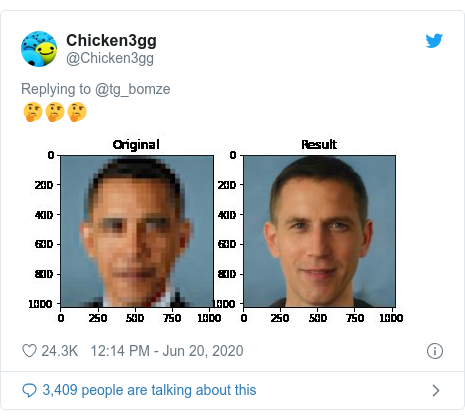Twitter post by @Chicken3gg: 🤔🤔🤔