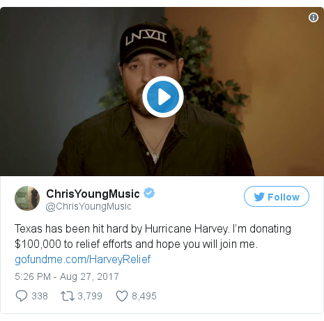 Twitter post by @ChrisYoungMusic