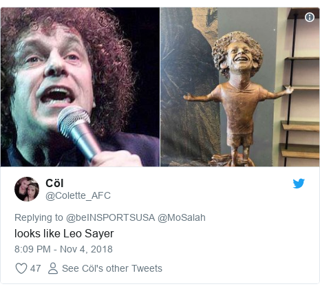 Twitter post by @Colette_AFC: looks like Leo Sayer