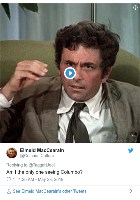 Twitter post by @Culchie_Culture: Am I the only one seeing Columbo?