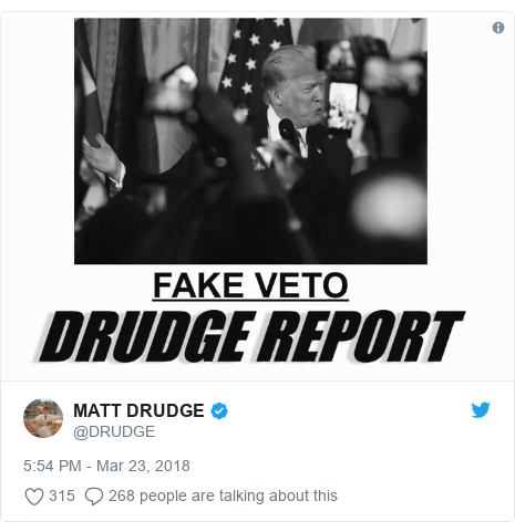 Twitter post by @DRUDGE: