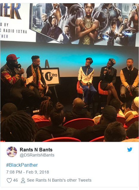 Twitter post by @DSRantsNBants: #BlackPanther
