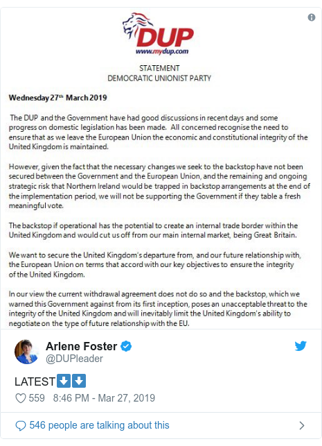 Twitter post by @DUPleader: LATEST⬇️⬇️