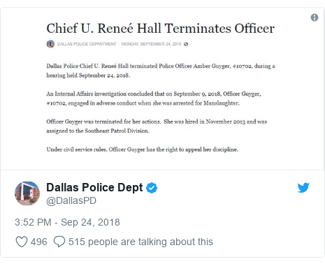 Twitter post by @DallasPD: