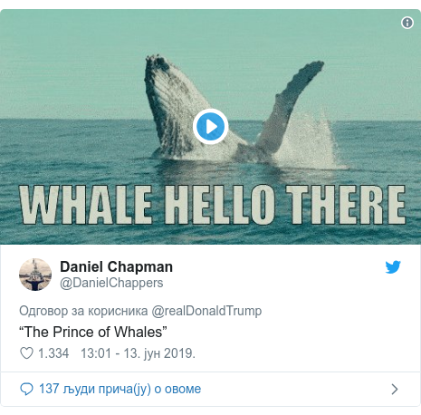 "Twitter post by @DanielChappers: ""The Prince of Whales"""