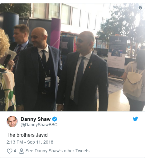 Twitter post by @DannyShawBBC: The brothers Javid