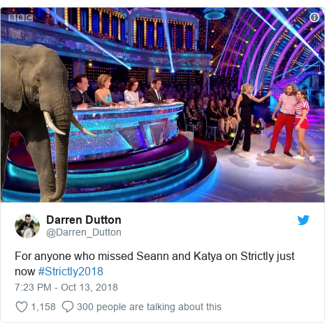 Twitter post by @Darren_Dutton: For anyone who missed Seann and Katya on Strictly just now #Strictly2018