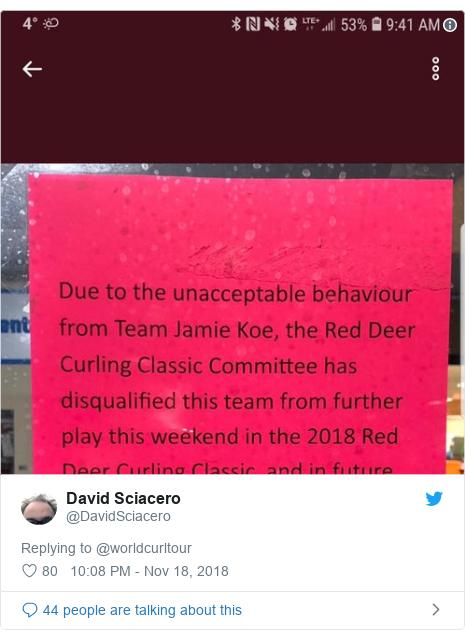 Twitter post by @DavidSciacero: