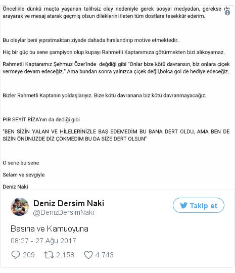 @DenizDersimNaki tarafından yapılan Twitter paylaşımı