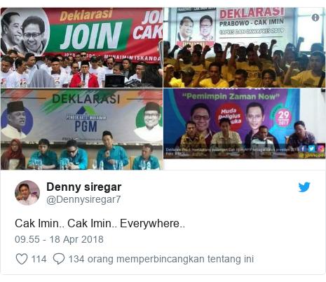 Twitter pesan oleh @Dennysiregar7: Cak Imin.. Cak Imin.. Everywhere..