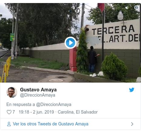 Publicación de Twitter por @DireccionAmaya: