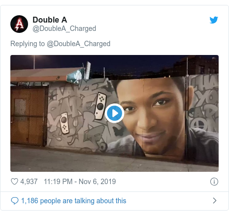 Twitter post by @DoubleA_Charged: