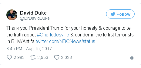 Twitter post by @DrDavidDuke