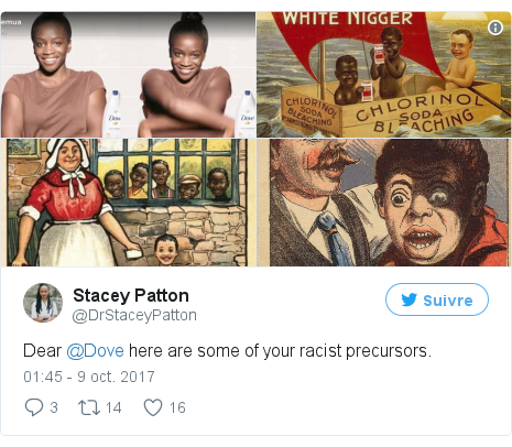 Twitter publication par @DrStaceyPatton: Dear @Dove here are some of your racist precursors. pic.twitter.com/Y15hrdIbVp