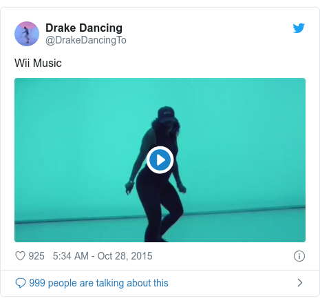 Twitter post by @DrakeDancingTo: Wii Music