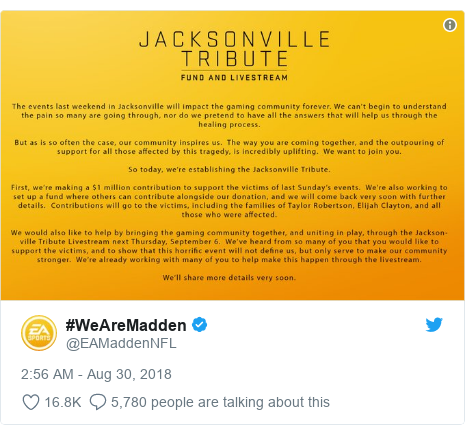 Twitter post by @EAMaddenNFL: