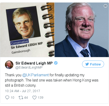 Twitter post by @EdwardLeighMP