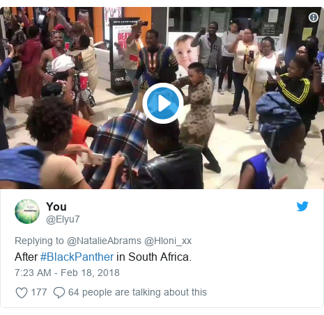 Twitter post by @Elyu7: After #BlackPanther in South Africa.