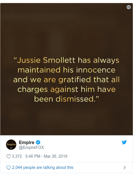Twitter post by @EmpireFOX: