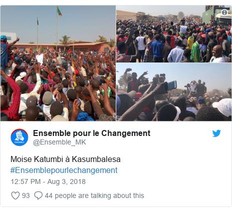 Ujumbe wa Twitter wa @Ensemble_MK: Moise Katumbi à Kasumbalesa #Ensemblepourlechangement