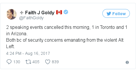 Twitter post by @FaithGoldy