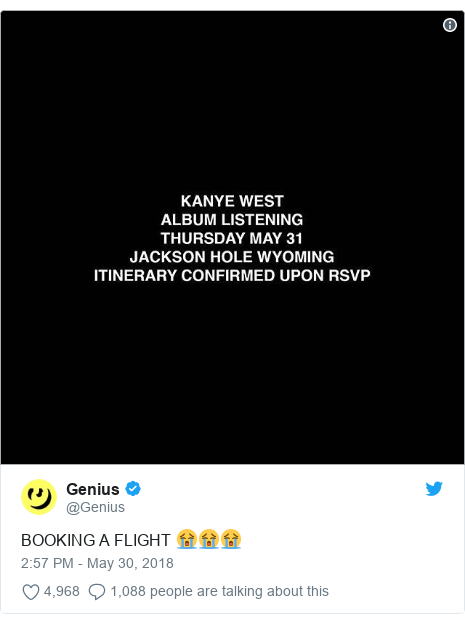 Twitter post by @Genius: BOOKING A FLIGHT 😭😭😭
