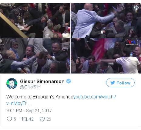 Twitter post by @GissiSim: Welcome to Erdogan's Americahttps //t.co/EPecV2Oj5H pic.twitter.com/XtNA9pedsh