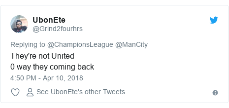 Twitter post by @Grind2fourhrs: They're not United0 way they coming back