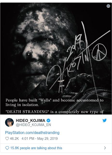 Twitter post by @HIDEO_KOJIMA_EN: