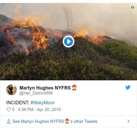 Twitter post by @Har_DistrictWM: INCIDENT  #IlkleyMoor
