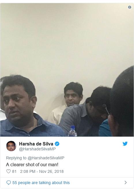 Twitter හි @HarshadeSilvaMP කළ පළකිරීම: A clearer shot of our man!