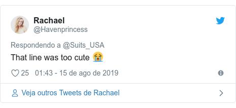 Twitter post de @Havenprincess: That line was too cute 😭