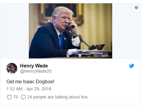 Twitter post by @HenryWade20: Get me Isaac Dogboe!